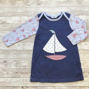 6M Baby Boden navy sailboat dress